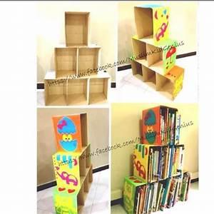 Cardboard Box Bookshelf DIY