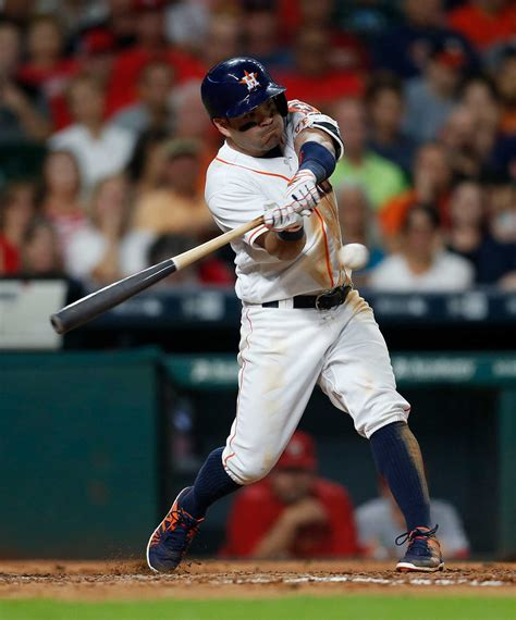 jose altuve reaches  hits  astros loss
