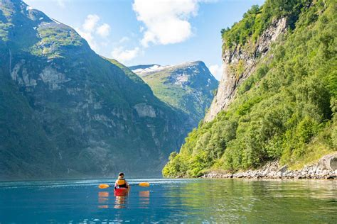 Padling In The Mighty Geirangerfjord Trails Of Norway