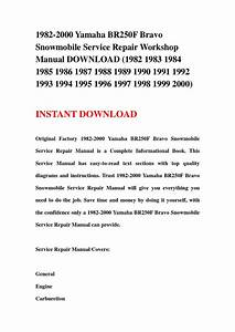 1982 2000 Yamaha Br250f Bravo Snowmobile Service Repair Workshop Manual Download  1982 1983 1984
