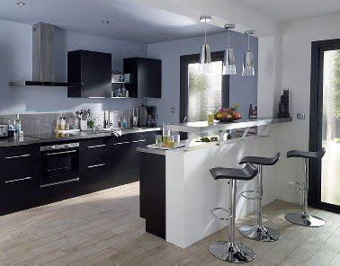 cuisine noir avec 238 lot moderne noir et blanc castorama