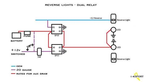 Aux Light Wiring Diagram 5 Wire Relay by Aux Backup Lights Wiring