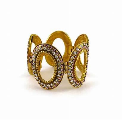 Dior Christian Jeweled Oval Boutique Bracelet Link