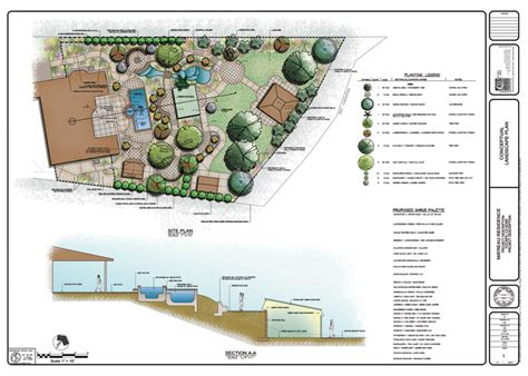 residential landscape design plan color renderings stb landscape architects page 2