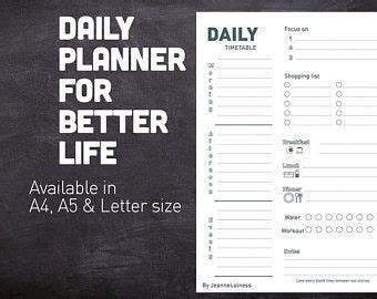 daily planner printable daily bullet journal template