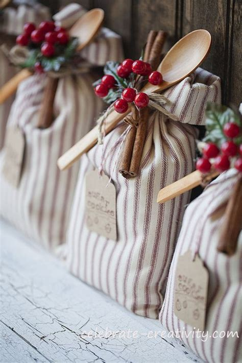 hand made gift bags for christmas food gift ideas