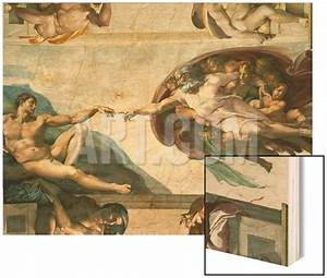 The Sistine Chapel; Ceiling Frescos after Restoration, the ...