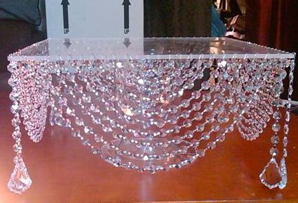 DIY Crystal Cake Stand Wedding