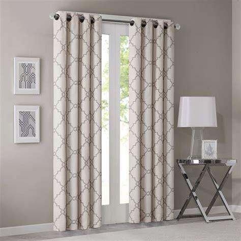 park westmont fretwork print grommet top curtain