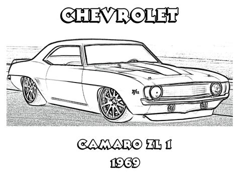 muscle car coloring pages    print