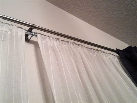 tension rods for curtains installing tension curtain rod the homy design