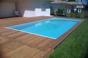 Piscine Avec Terrasse Bois : terrasse bois avec piscine jardin ~ Nature-et-papiers.com Idées de Décoration