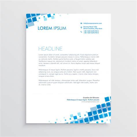 abstract blue creative letterhead design vector