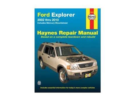 haynes repair manual  ford explorer