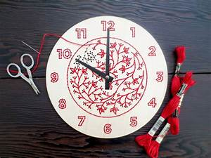 Diy Embroidery Wood Clock Kit
