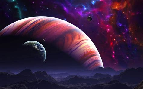 planets in space hd wallpaper background image