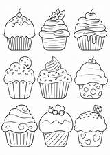 Coloring Cupcake Malvorlagen Printable Druckbare Ausdrucke Printables Dessert Coloriage Grown Jurnalistikonline Adult Tulamama Enregistree Depuis Ups sketch template