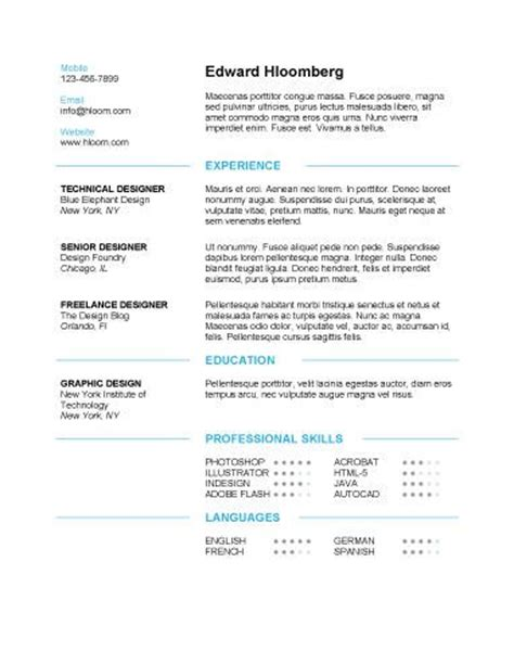 Clean Modern Resume Design by 17 Best Images About Resume Templates On Resume Templates Self Assessment And