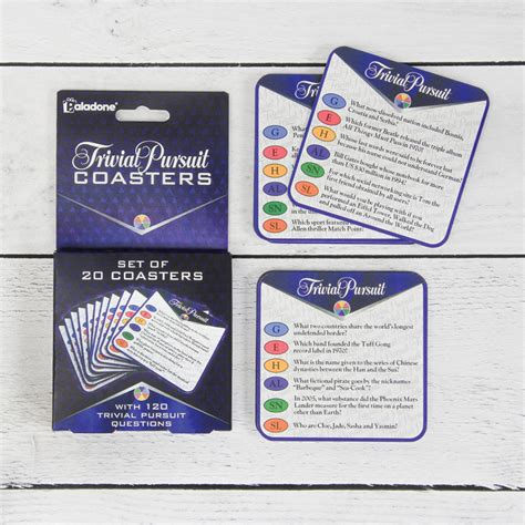 trivial pursuit coasters by paladone products ltd wholesale gift supply