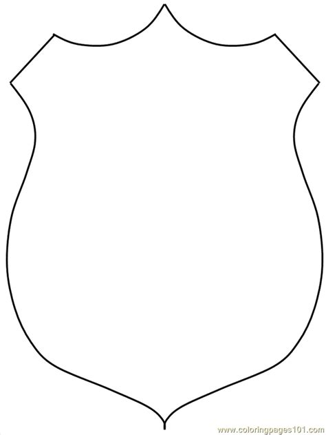 badge coloring page free coloring pages of badge