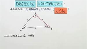Winkel Dreieck Berechnen 3 Seiten Gegeben : dreiecke konstruieren 1 seite und 2 winkel gegeben wsw mathematik online lernen ~ Themetempest.com Abrechnung