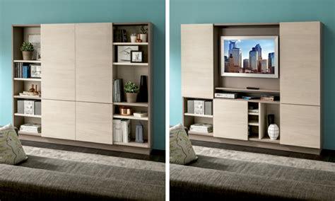 cachee bureau muebles tv integrados con biblioteca 75 ideas modernas
