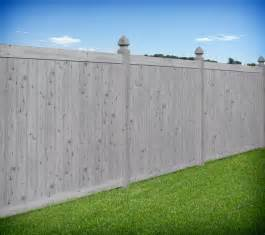 white livingroom furniture gray wood grain pvc vinyl privacy fence by illusions vinyl
