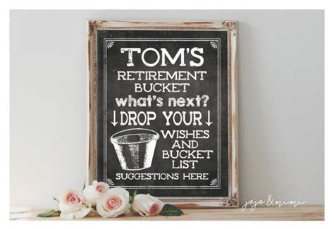Personalized Retirement Bucket List Printable Retirement Party Chalkboard Wishes And Bucket List Gift Of Nothing India Amazon Voucher Code Does Walmart Sell Cards Giftcraft Login Craft Shop Names Photo Stubby Holder Portal Rakhi To Usa Gourmet Baskets