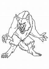 Coloring Demon Monster Kleurplaat Monsters Weerwolf Gevaarlijke Ausmalbilder Griezels Kleurplaten Adult Werewolf Printable Comments Books Scary Kostenlos sketch template