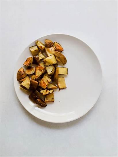 Plate Garbage Vegan Ingredients Fries Salad