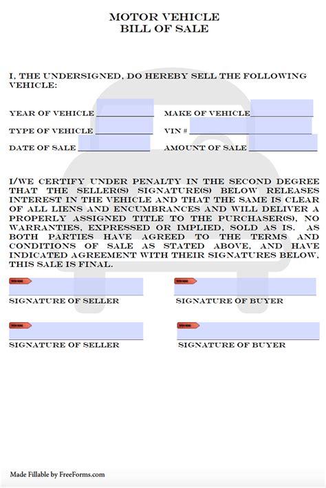 colorado bill  sale forms