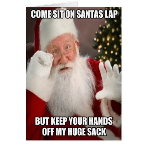 Meme Greeting Cards - funny innuendo santa meme greeting card zazzle