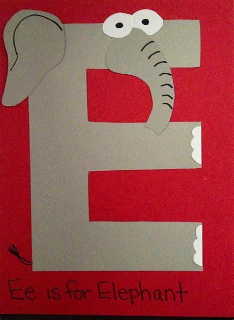 e is for elephant prek preschool craft prek preschool