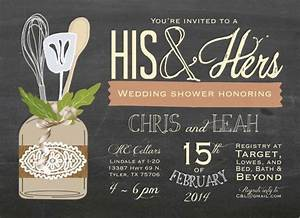 his hers couple39s wedding shower invitation by With his and her wedding shower ideas