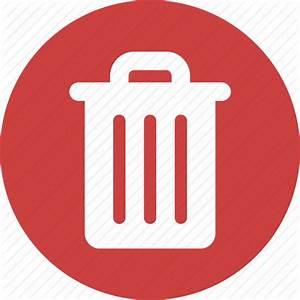 Circle, delete, garbage, recycle, red, rubbish, trash icon ...