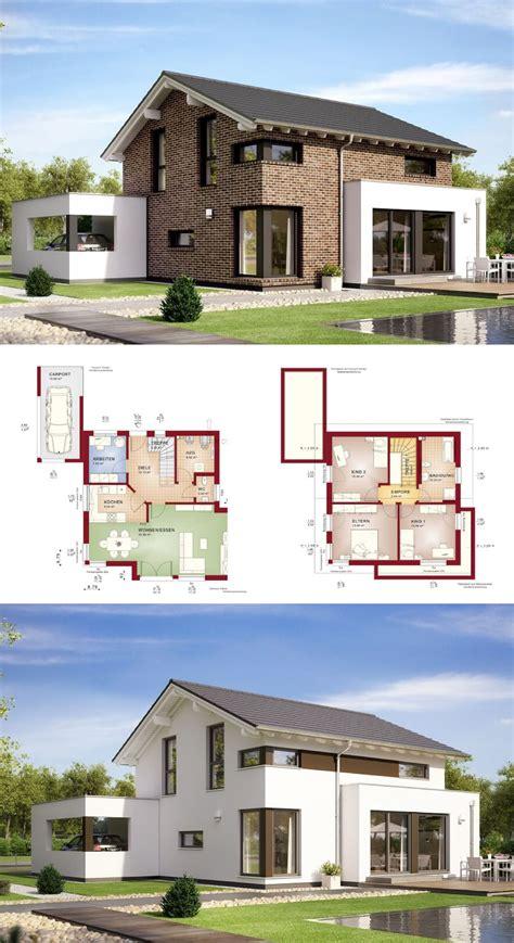 Modernes Haus Weiß by Modernes Einfamilienhaus Mit Satteldach Und Klinker