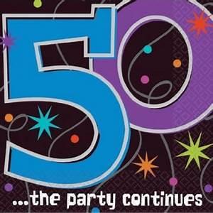 Servietten 1 Geburtstag : servietten zum 50 geburtstag 39 party continues 39 16er pack party deko ~ Udekor.club Haus und Dekorationen
