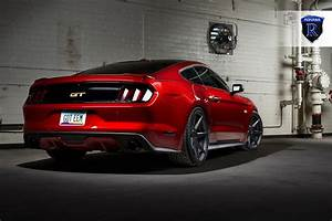 ruby red ford mustang gt s550 rohana rc7 matte graphite concave wheels | PK Auto Design