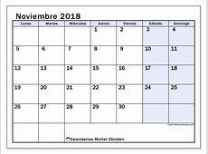 Calendarios noviembre 2018 LD Michel Zbinden es