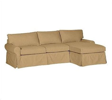 slipcover for sofa with chaise pb basic left 2 piece with chaise sectional slipcover