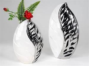 Farbe Weiss Oder Weiß : schicke dekor vase oder schale in blatt optik farbe weiss silber ebay ~ Orissabook.com Haus und Dekorationen