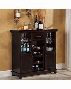 Deals On Tuscan Expandable Wine Bar In Espresso Wine Cabinet