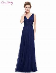 Prom party dress women sexy blue v neck ruched ever pretty for Womens summer dresses for weddings