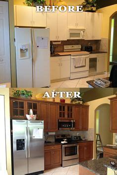 kitchen floor before or after cabinets kitchen refacing project by dreammaker arbor showing 9366