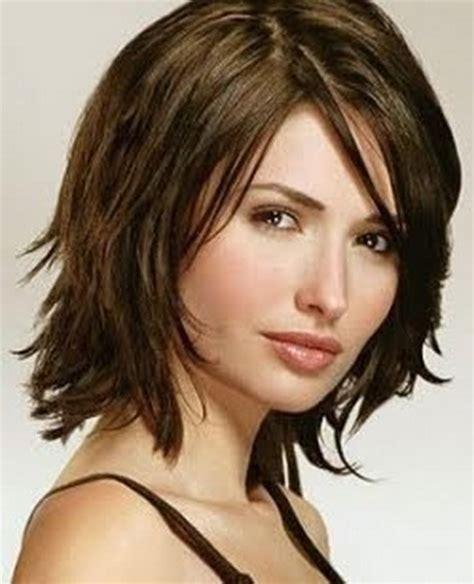 medium length layered haircuts for thick hair