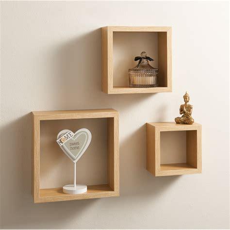 Lokken 3 Cube Shelves   Living Room Furniture   B&M