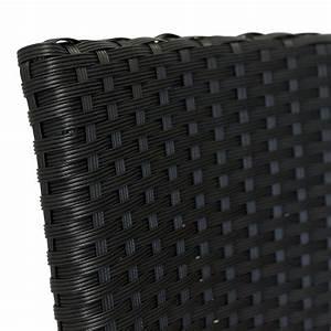 Balkonmöbel Rattan Set : 3tlg balkonm bel set bistrotisch 60x60cm schwarz 2x rattan gartensessel schwarz garten ~ Whattoseeinmadrid.com Haus und Dekorationen