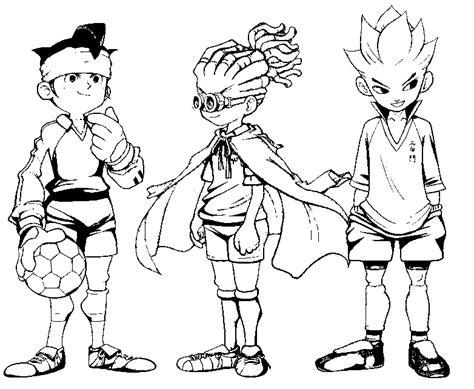 desenho  colorir inazuma eleven