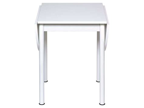 table cuisine conforama table avec allonges rabattables flipp coloris blanc