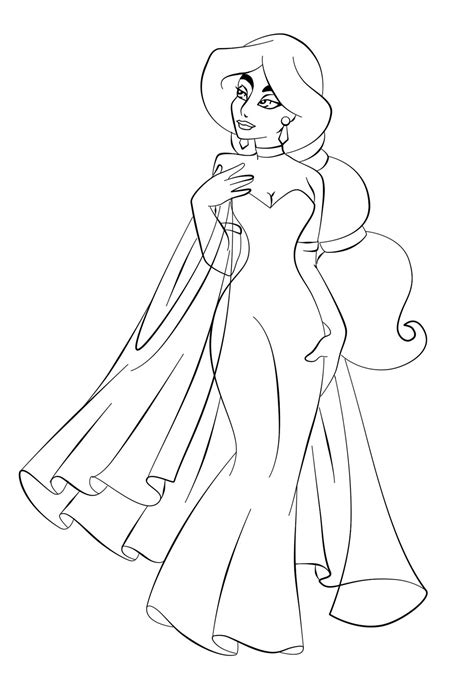 Free Coloring Page Free Printable Jasmine Coloring Pages For Kids Best